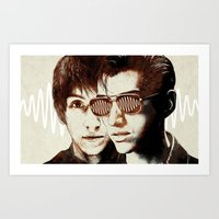 arctic monkeys Art Prints featuring AM II by Your Music Design