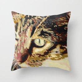 Chico Cat Throw Pillow