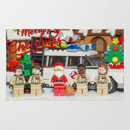 Santa and the Ghostbusters Rug