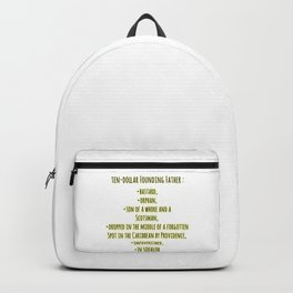 founding father ingredients Backpack