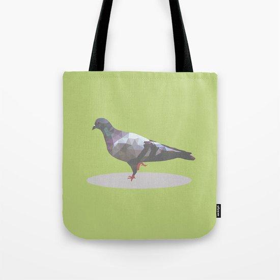 pigeon  polygon style Tote Bag