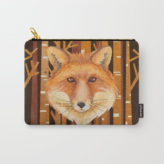 Fox Wild animal in the forest- abstract artwork #Society6 Carry-All Pouch