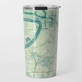 Antwerp Map Blue Vintage Travel Mug