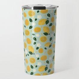 Summer Lemon Travel Mug