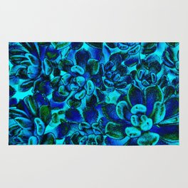 Floral tribute [blue velvet] Rug