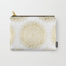 Hand Drawn Gold Mandala Carry-All Pouch