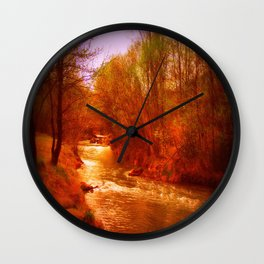 on the river Wall Clock