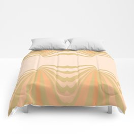 Cream and Olive Green Pattern Comforters