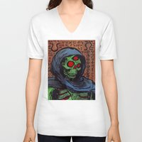 occult V-neck T-shirts featuring Occult Macabre by Chris Moet