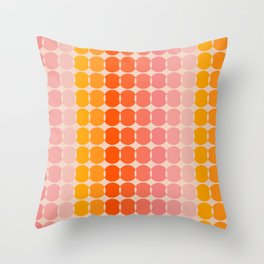 Strawberry Dots Throw Pillow