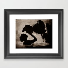 The kiss of the mermaid Framed Art Print