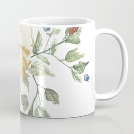 The Eliza // Warm Florals and Berries Watercolor Coffee Mug