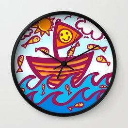 LUCKY FISHING DAY Wall Clock