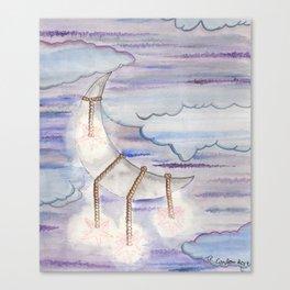Starlit Moon Canvas Print