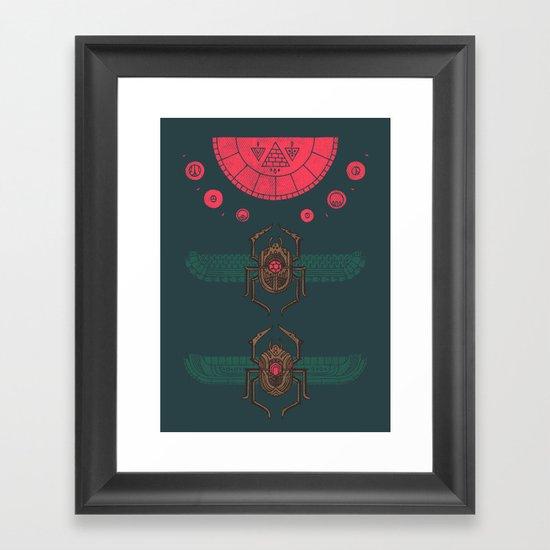 Scarabs Framed Art Print