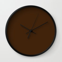 Colors of Autumn Dark Hazelnut Brown Solid Color Wall Clock