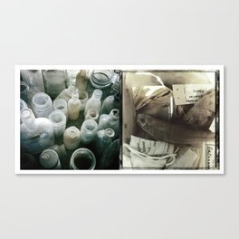 Bottles:Fish Canvas Print