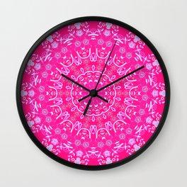 Summer Rain Mandala Wall Clock