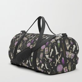 WITCH pattern • in black salt Duffle Bag