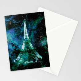Paris Dreams Green Blue Violet Stationery Cards