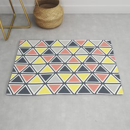 Colorful triangles decoration Rug
