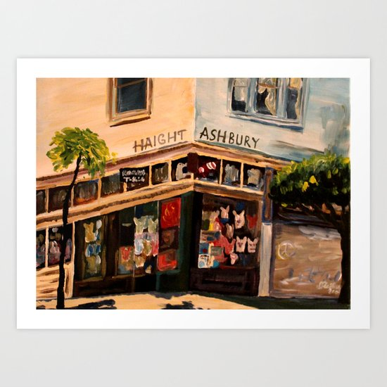 Love N Haight in Haight Ashbury Art Print
