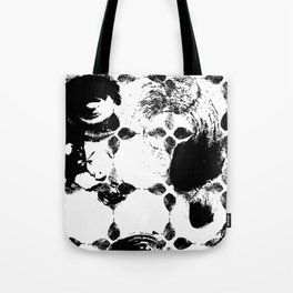 Black and white leaves Tote Bag