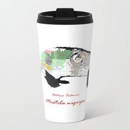 Natura Technica - Black Footed Ferret Metal Travel Mug