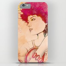 Afro musician girl face african girl iPhone 6 Plus Slim Case