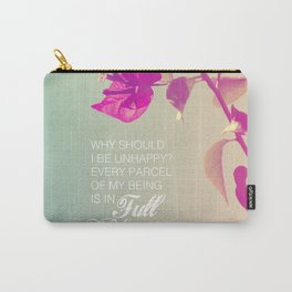 Full Bloom - Rumi - Wisdom quote 3 Carry-All Pouch