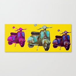 Colorful  scooters Canvas Print