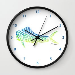 Tribal Mahi Mahi Wall Clock