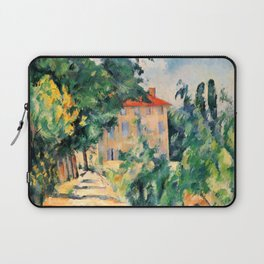 """Paul Cezanne """"House with red roof"""", 1890 Laptop Sleeve"""