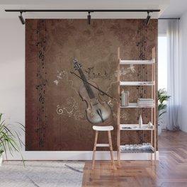 Music, violin with violin bow Wall Mural