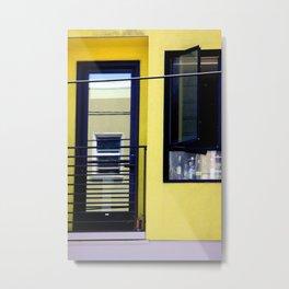 Second And Third Floor Windows With Door Metal Print