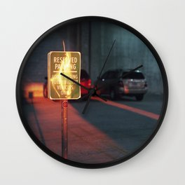 reserved parking Wall Clock