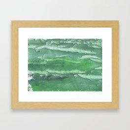 Dark sea green watercolor Framed Art Print