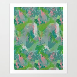 Jungle Hush Wallpaper Art Print