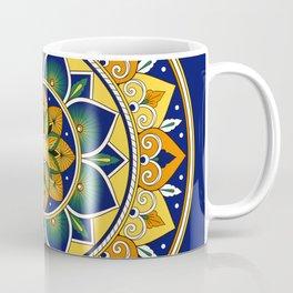 Italian Tile Pattern – Peacock motifs majolica from Deruta Coffee Mug