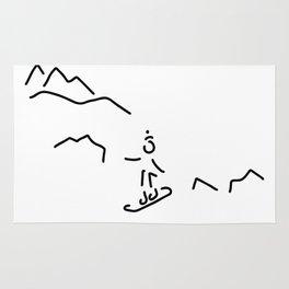 snowboarder skiing winter sports Rug