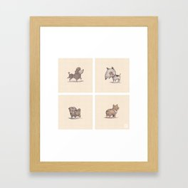 Domestic Animal-1-Puppies Framed Art Print