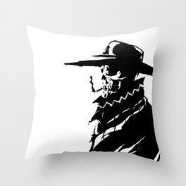Mysterious Skullboy  Throw Pillow