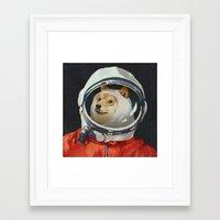 doge Framed Art Prints featuring DOGE by Ilya Brovkin