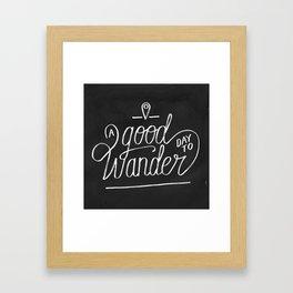 Good Day to Wander Framed Art Print