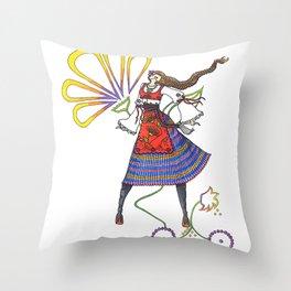 Folk Dancer Throw Pillow