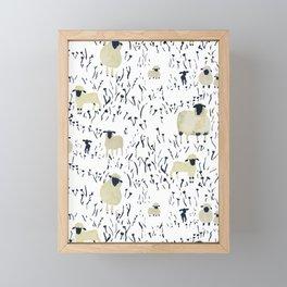 Field of Sheep Framed Mini Art Print