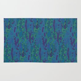 Blue Grotto Abstract Watercolor Rug