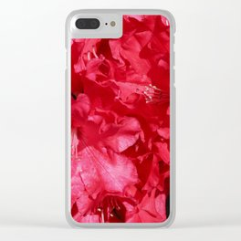 Rhododendron Tree Clear iPhone Case