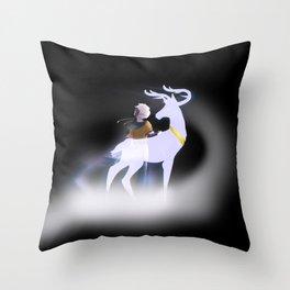 White Stag Throw Pillow