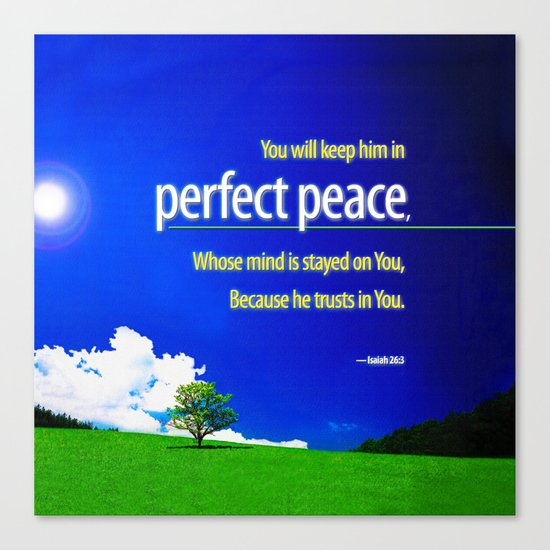 Perfect Peace Canvas Print